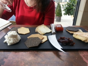 Cheese selection at 1855 Oxford