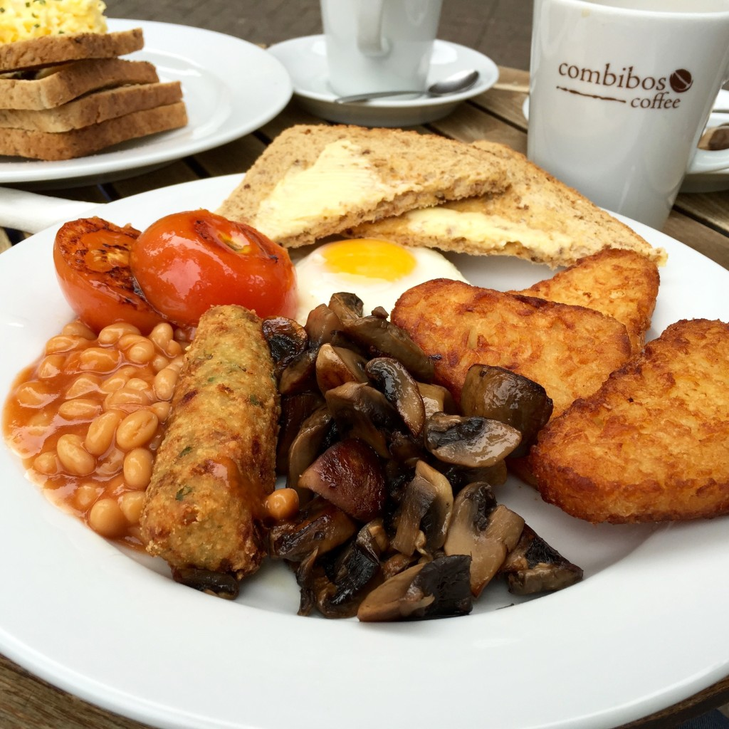 Veggie Full English at Combibos Coffee Oxford