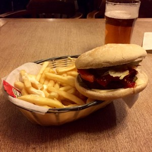The Gardeners Arms - Veggie Burger and Fries