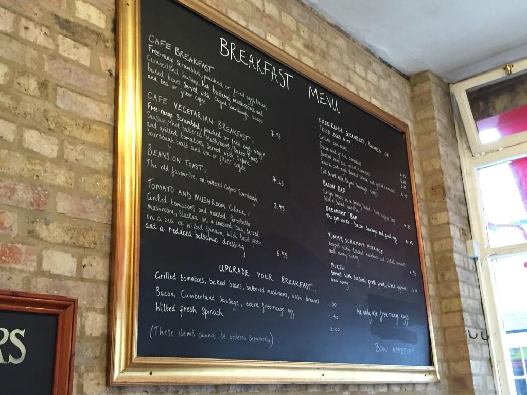 The Jericho Cafe - Breakfast Menu