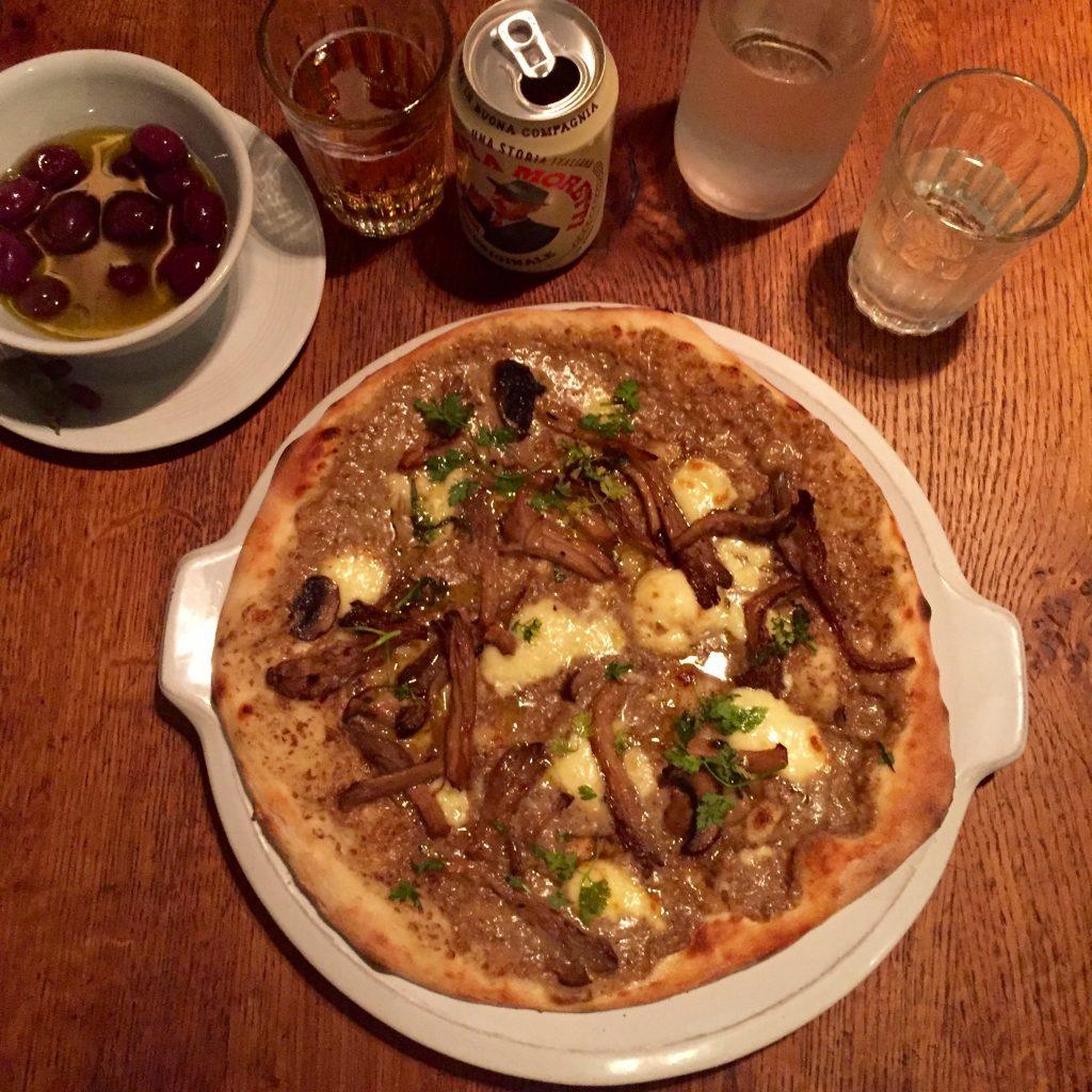 Funghi Misti Pizza at Jamies Pizzeria