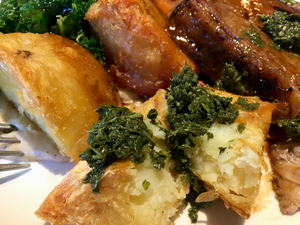Fox Inn Boars Hill Roasties and Mint Sauce