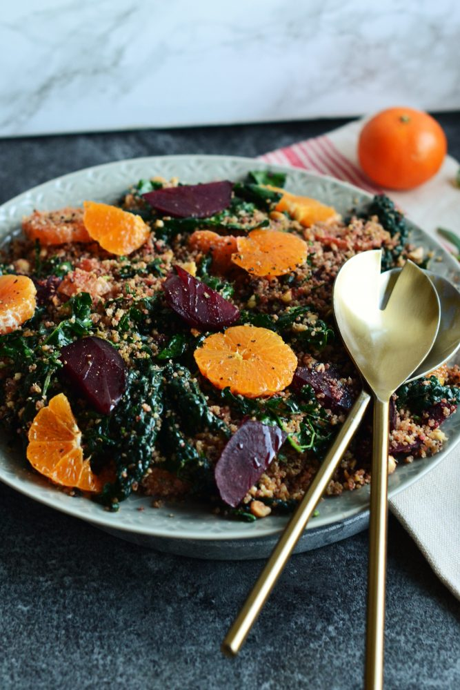 Beetroot, Tangerine, and Kale Salad