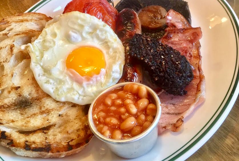 Pint Shop Full English Breakfast Brunch Menu