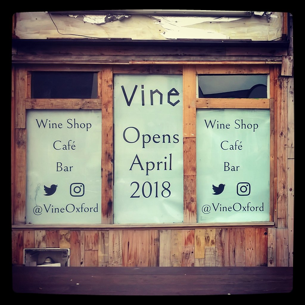 Vine Oxford Opening Soon