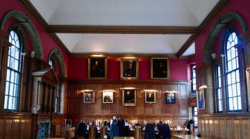 Hertford College showcases fine dining event skills for hire