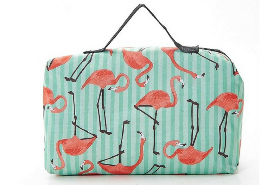 Boswells Eco Chic FOLD UP PICNIC BLANKET - FLAMINGO
