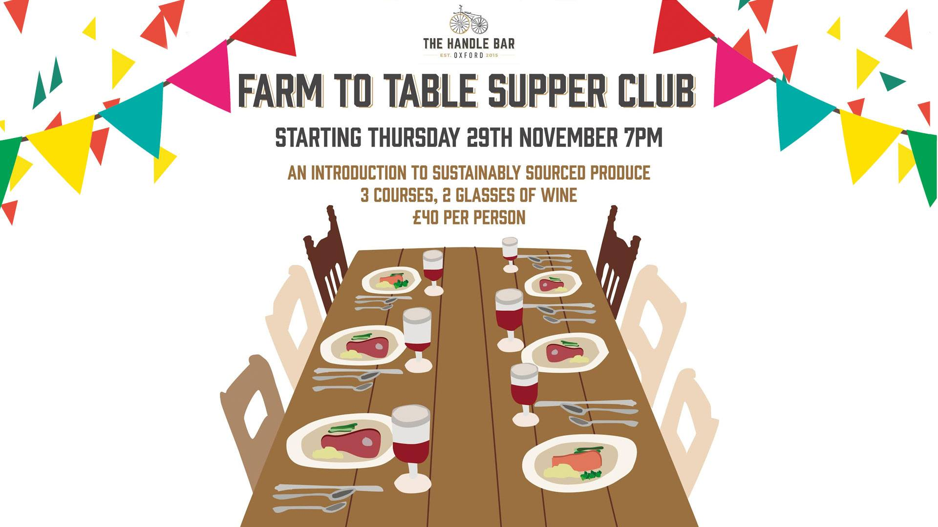 Handle Bar Farm to Table Supper Club