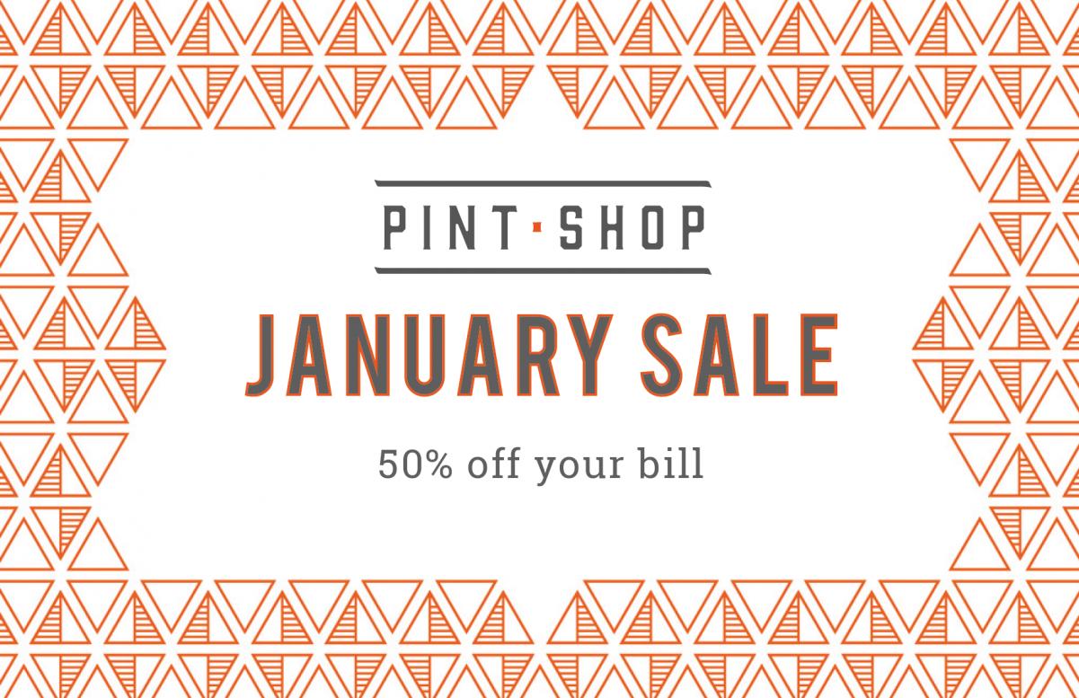 Pint Shop January sale Oxford
