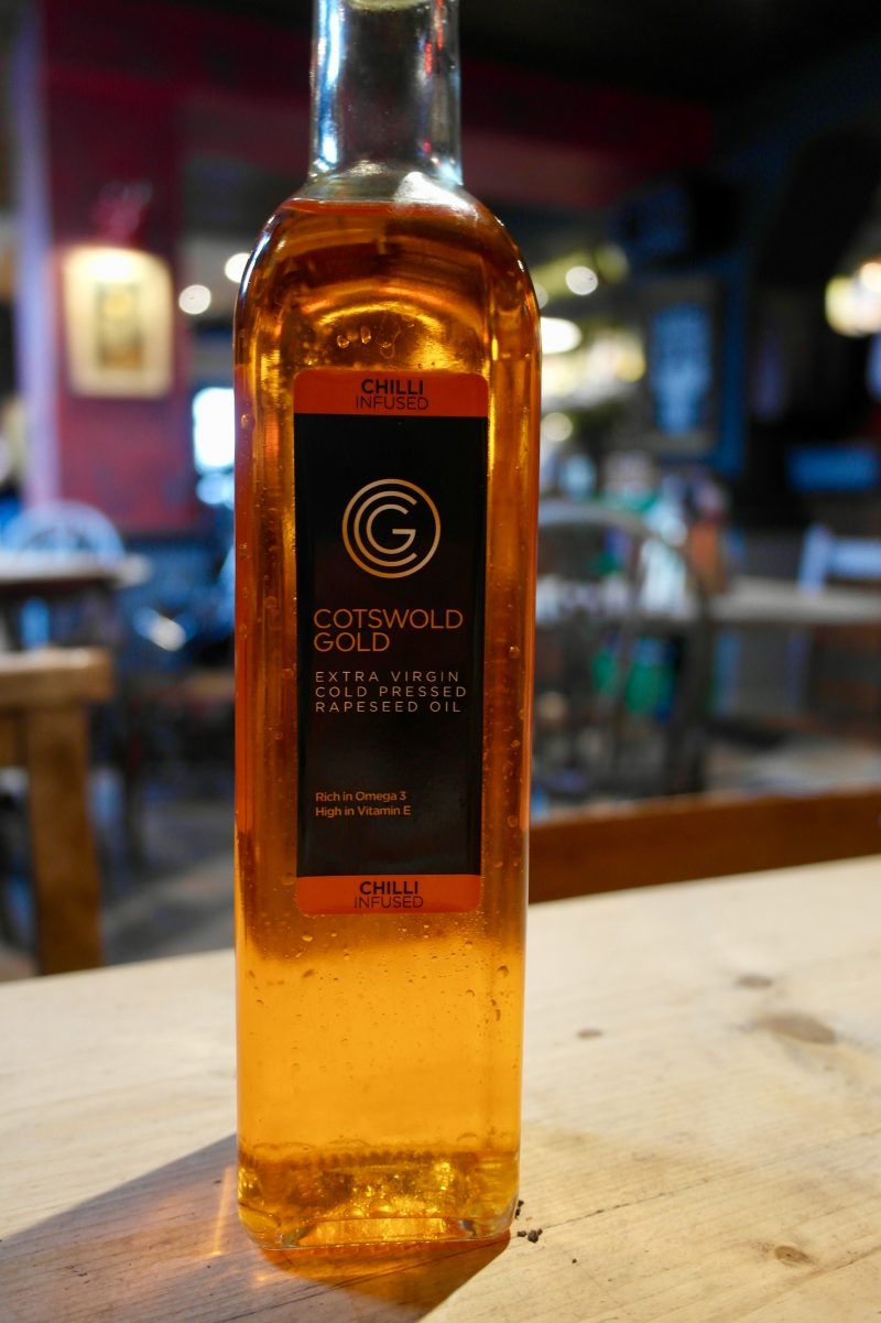 Cotswold Gold Chilli Oil at Rusty Bicycle | Image Credit Bitten Oxford