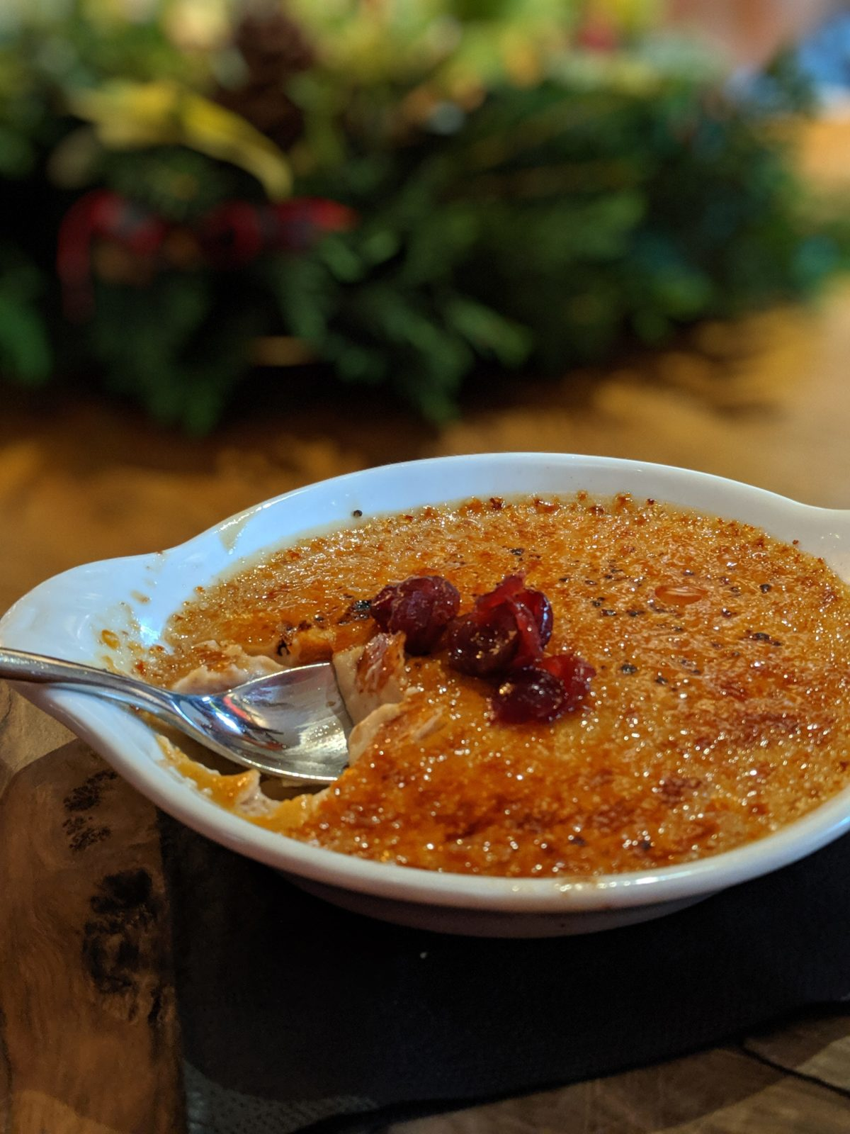 Cranberry creme brulee at The Baskerville Henley | Image Credit Bitten Oxford